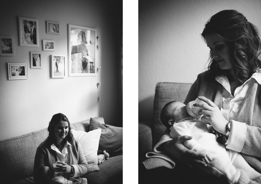 Baby, Newborn, Foto, Fotografin, Hamburg, schwarz-weiß, Reportage, Kathrin Stahl