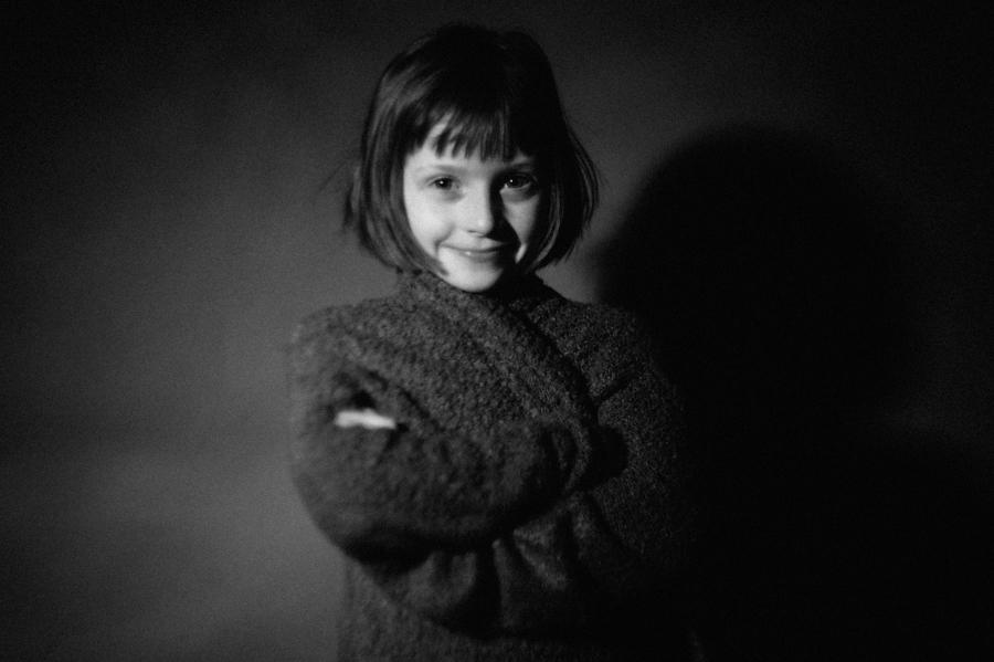 Leinwand, Kinderfotos, Portrait, schwarzweiss, Kathrin Stahl