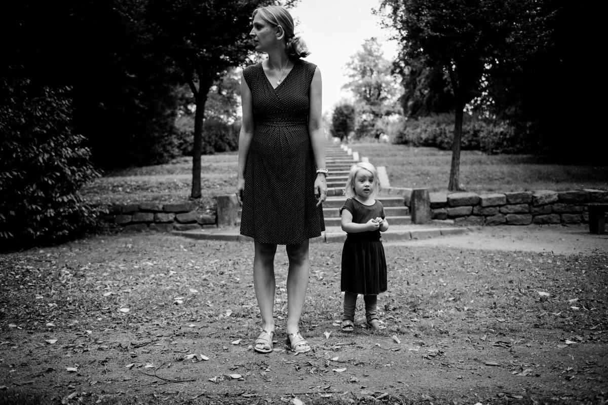 Mother, daughter, blackandwhite, KathrinStahl